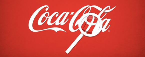 Dannebrog i Coca-Colas logo