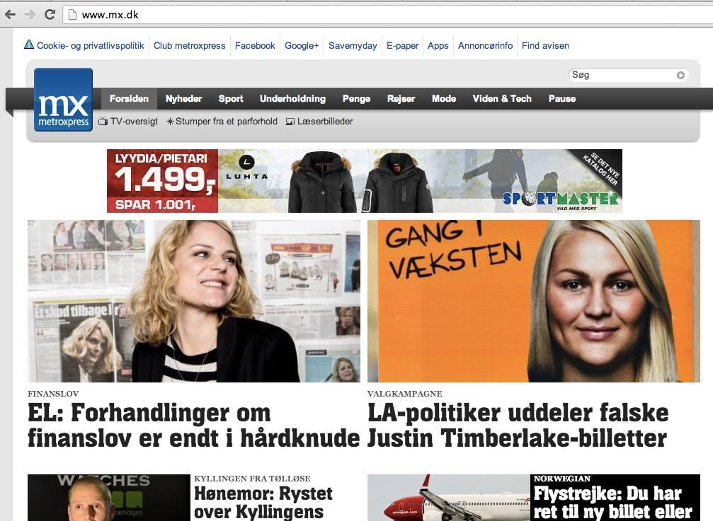Forsiden af mx.dk