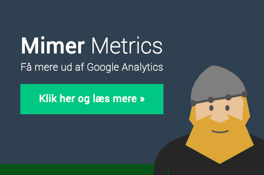 Mimer Metrics - Google Analytics dashboards